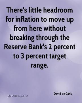 There's little headroom for inflation to move up from here without breaking through the Reserve Bank's 2 percent to 3 percent target range.