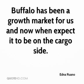 Edna Ruano - Buffalo has been a growth market for us and now when expect it to be on the cargo side.