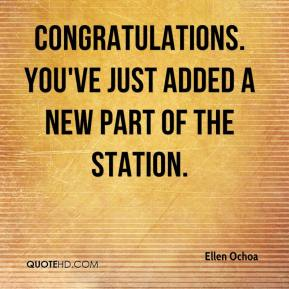 Congratulations. You've just added a new part of the station.