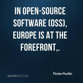 Florian Mueller - In open-source software (OSS), Europe is at the forefront.