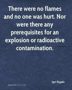 Igor Dygalo - There were no flames and no one was hurt. Nor were there any prerequisites for an explosion or radioactive contamination.