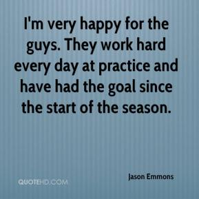 Jason Emmons - I'm very happy for the guys. They work hard every day at practice and have had the goal since the start of the season.