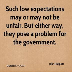 John Philpott  - Such low expectations may or may not be unfair. But either way, they pose a problem for the government.