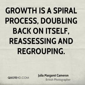 Julia Margaret Cameron - Growth is a spiral process, doubling back on itself, reassessing and regrouping.
