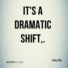 Kelly Ellis  - It's a dramatic shift.