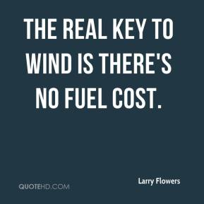 Larry Flowers  - The real key to wind is there's no fuel cost.