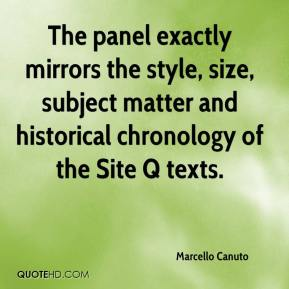 Marcello Canuto  - The panel exactly mirrors the style, size, subject matter and historical chronology of the Site Q texts.