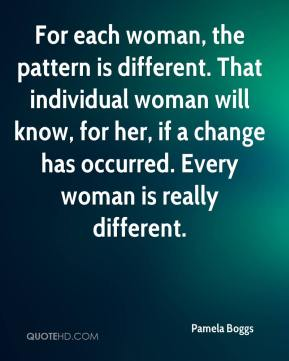 For each woman, the pattern is different. That individual woman will know, for her, if a change has occurred. Every woman is really different.