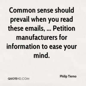 Philip Tierno  - Common sense should prevail when you read these emails, ... Petition manufacturers for information to ease your mind.