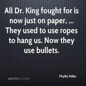 All Dr. King fought for is now just on paper, ... They used to use ropes to hang us. Now they use bullets.