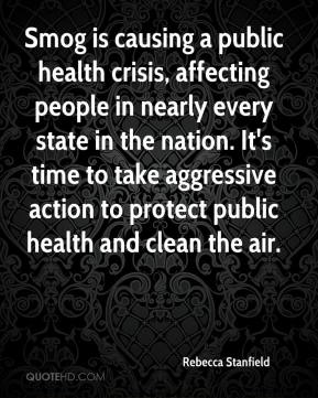Smog is causing a public health crisis, affecting people in nearly every state in the nation. It's time to take aggressive action to protect public health and clean the air.