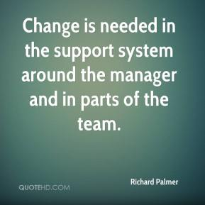 Change is needed in the support system around the manager and in parts of the team.