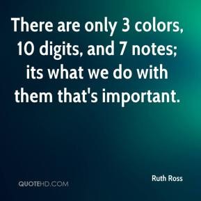 There are only 3 colors, 10 digits, and 7 notes; its what we do with them that's important.