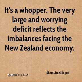 It's a whopper. The very large and worrying deficit reflects the imbalances facing the New Zealand economy.