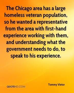 Tommy Vietor  - The Chicago area has a large homeless veteran population, so he wanted a representative from the area with first-hand experience working with them, and understanding what the government needs to do, to speak to his experience.