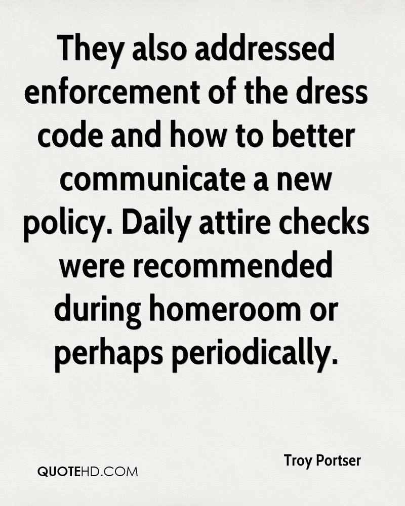 Black n white dress code quotations