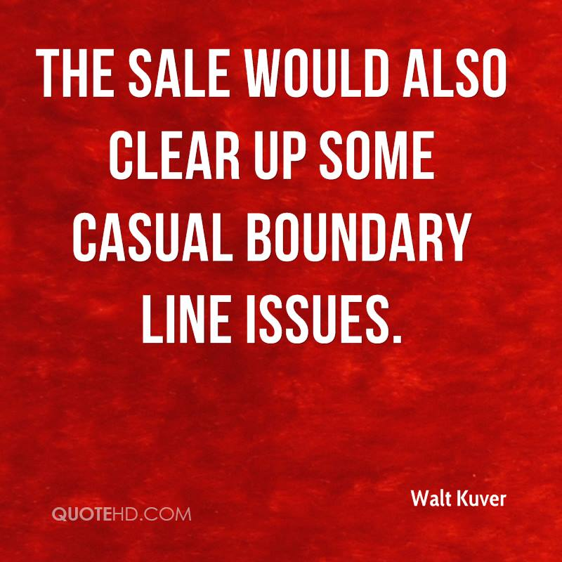 The sale would also clear up some casual boundary line issues.
