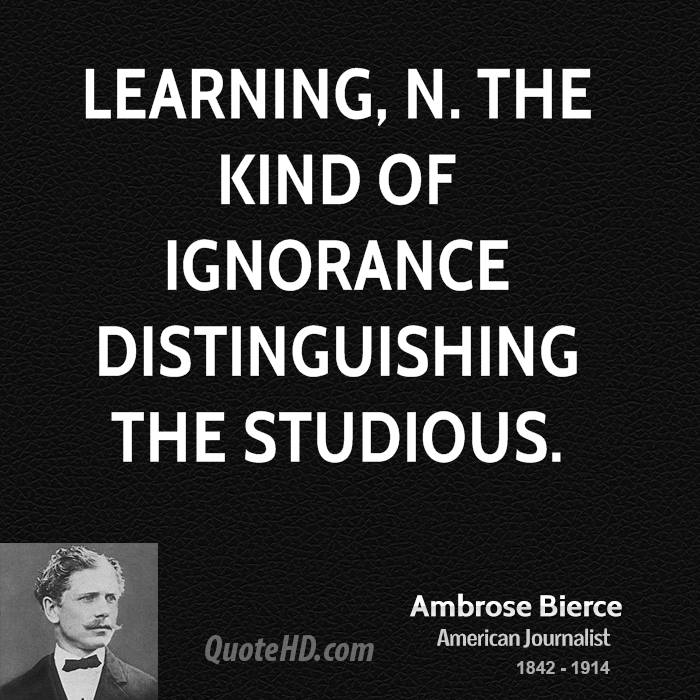 it is only the ignorant who despise education essay Define ignorance: the state or fact of being ignorant : lack of knowledge, education, or awareness — ignorance in a sentence.