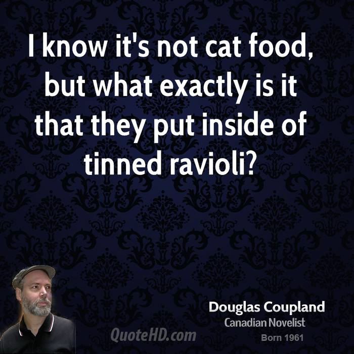 I know it's not cat food, but what exactly is it that they put inside of tinned ravioli?