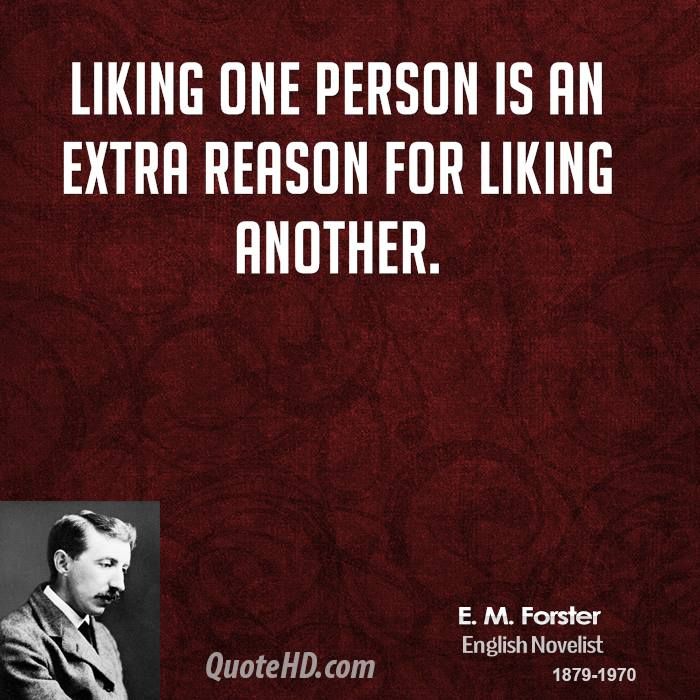 Liking one person is an extra reason for liking another.