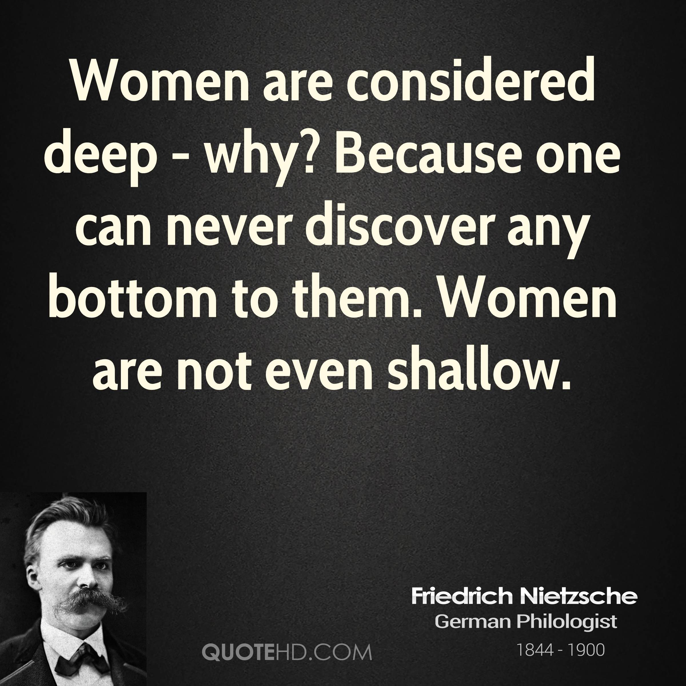 nietzsches views on women Nietzsche essays essay on nietzsche  rather the god had a functional role from his point of view there is no doubt that,  euripides support of women's rights.