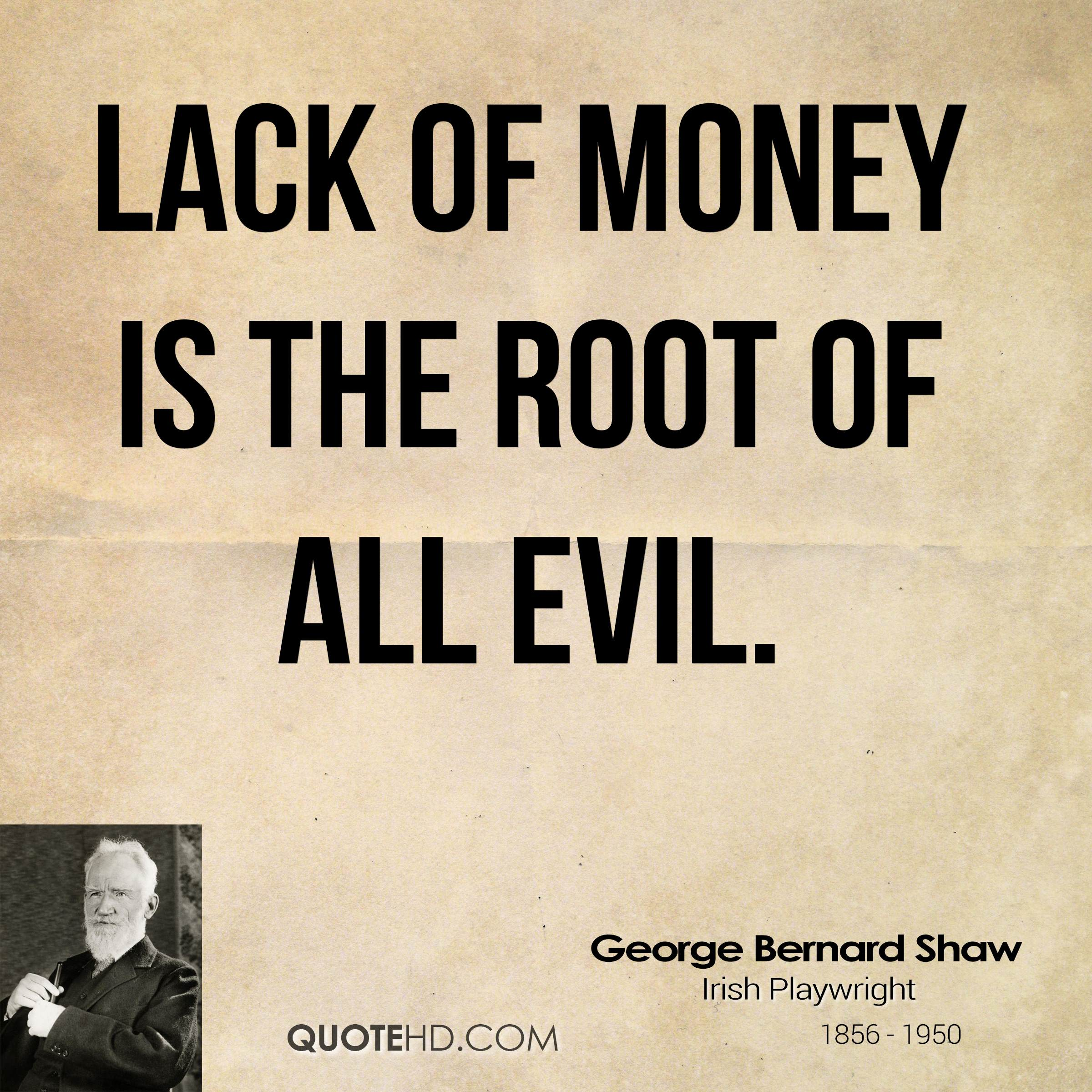 Is Money Evil?