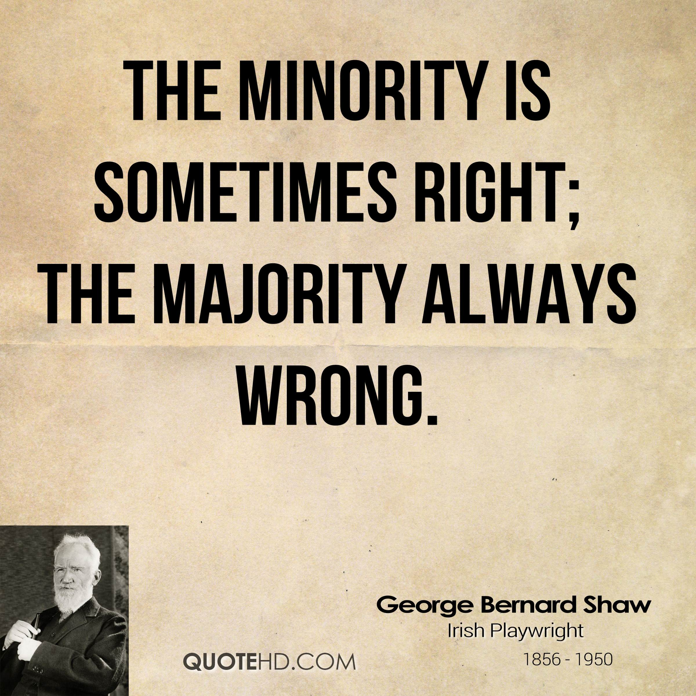is the majority always right