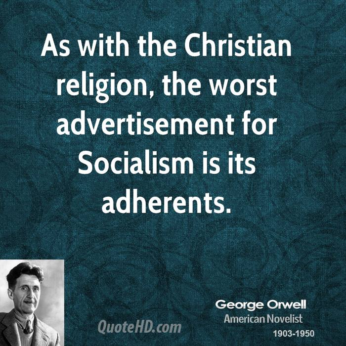 a comprehensive analysis of socialism and totalitarianism by george orwell