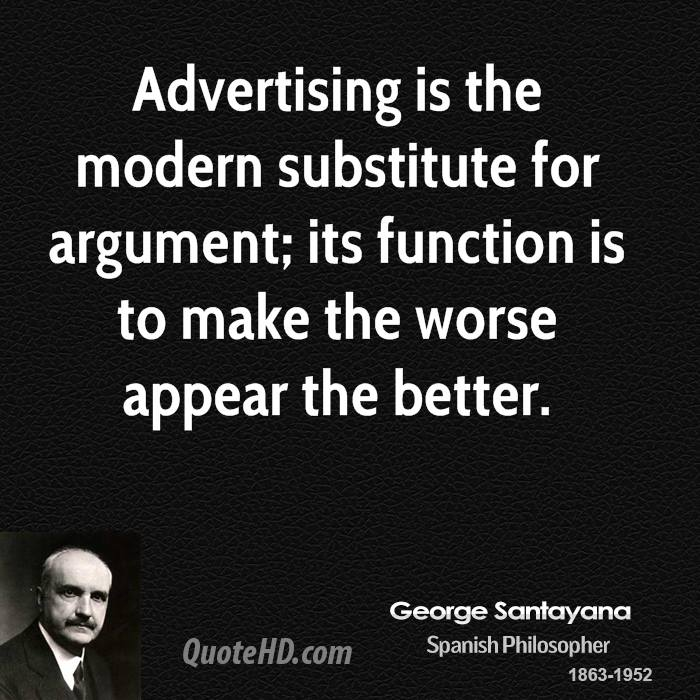 advertising cannot make worse appear the