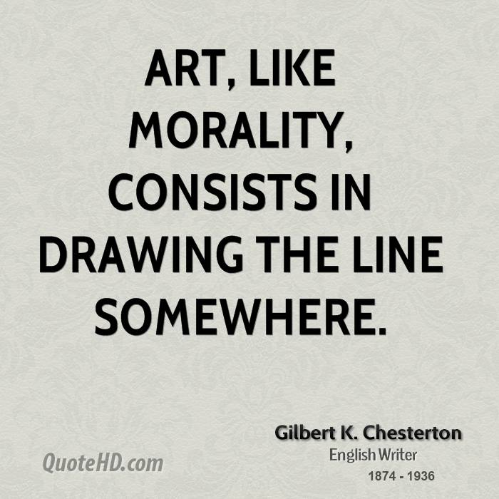 Drawing Smooth Lines Quotes : Gilbert k chesterton art quotes quotehd