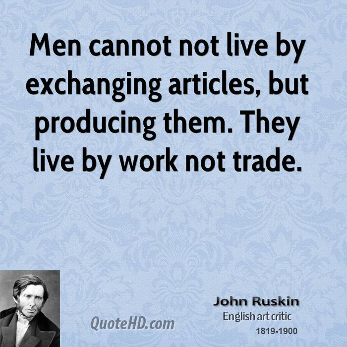 essay work by john ruskin Selected writings has 137 ratings and 10 reviews roy said: taste is not only a part and an index of morality—it is the only moralityjohn ruskin ca.