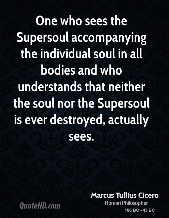 One who sees the Supersoul accompanying the individual soul in all bodies and who understands that neither the soul nor the Supersoul is ever destroyed, actually sees.