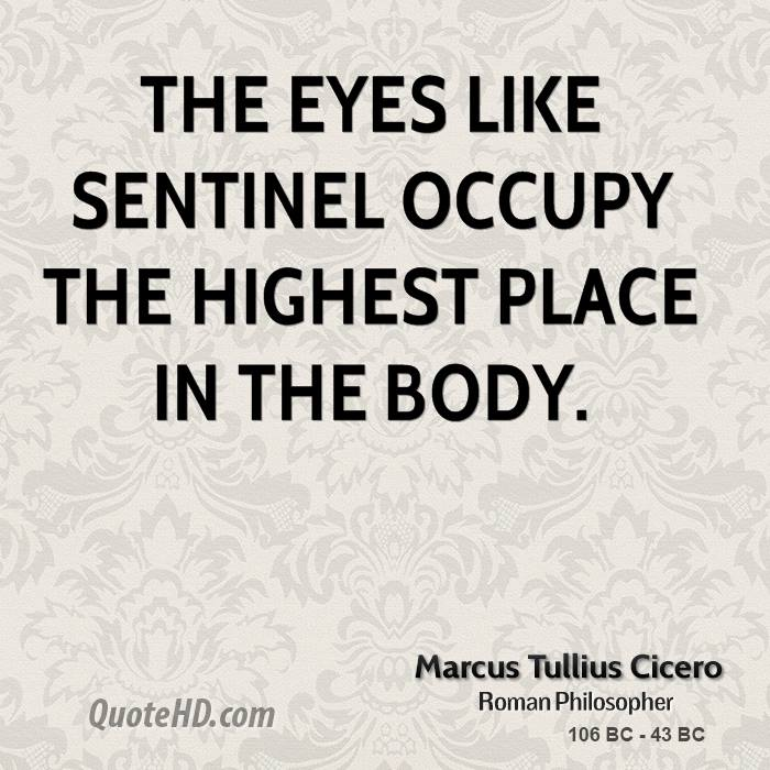 The eyes like sentinel occupy the highest place in the body.