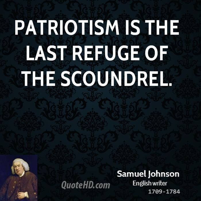 Patriotic Quotes: You Dirty Rotten Scoundrel Voting Poll.