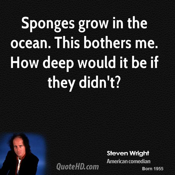 Sponges grow in the ocean. This bothers me. How deep would it be if they didn't?