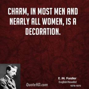 Charm, in most men and nearly all women, is a decoration.