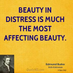 Edmund Burke - Beauty in distress is much the most affecting beauty.