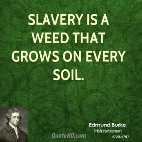 Slavery is a weed that grows on every soil.