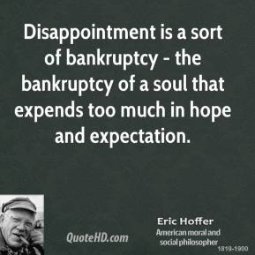 Disappointment |