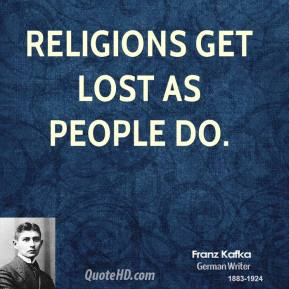 Religions get lost as people do.