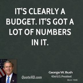 It's clearly a budget. It's got a lot of numbers in it.