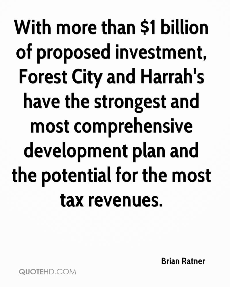 With more than $1 billion of proposed investment, Forest City and Harrah's have the strongest and most comprehensive development plan and the potential for the most tax revenues.