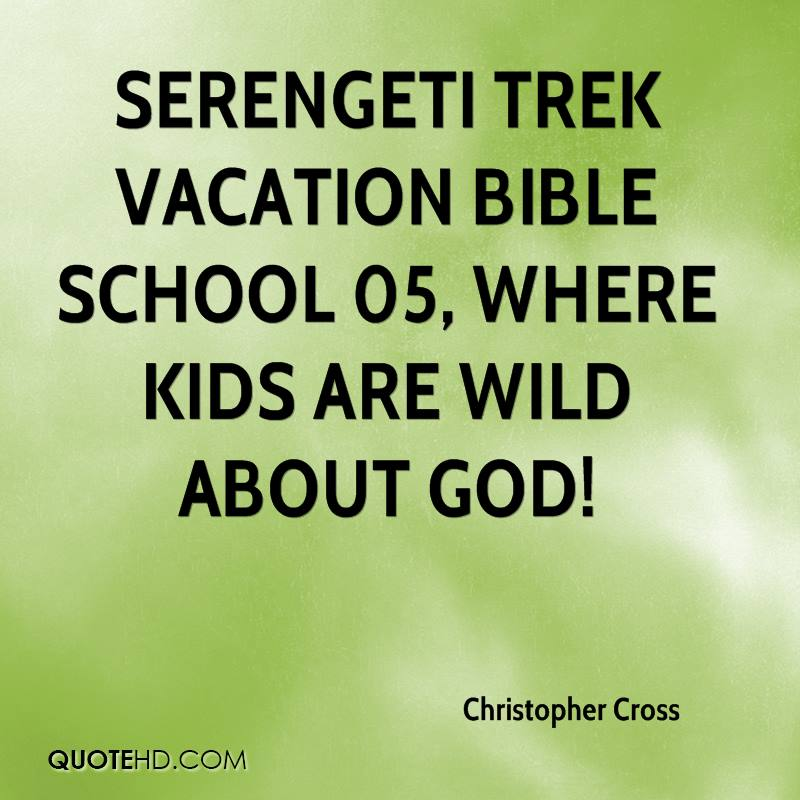 Serengeti Trek Vacation Bible School 05, where kids are wild about God!