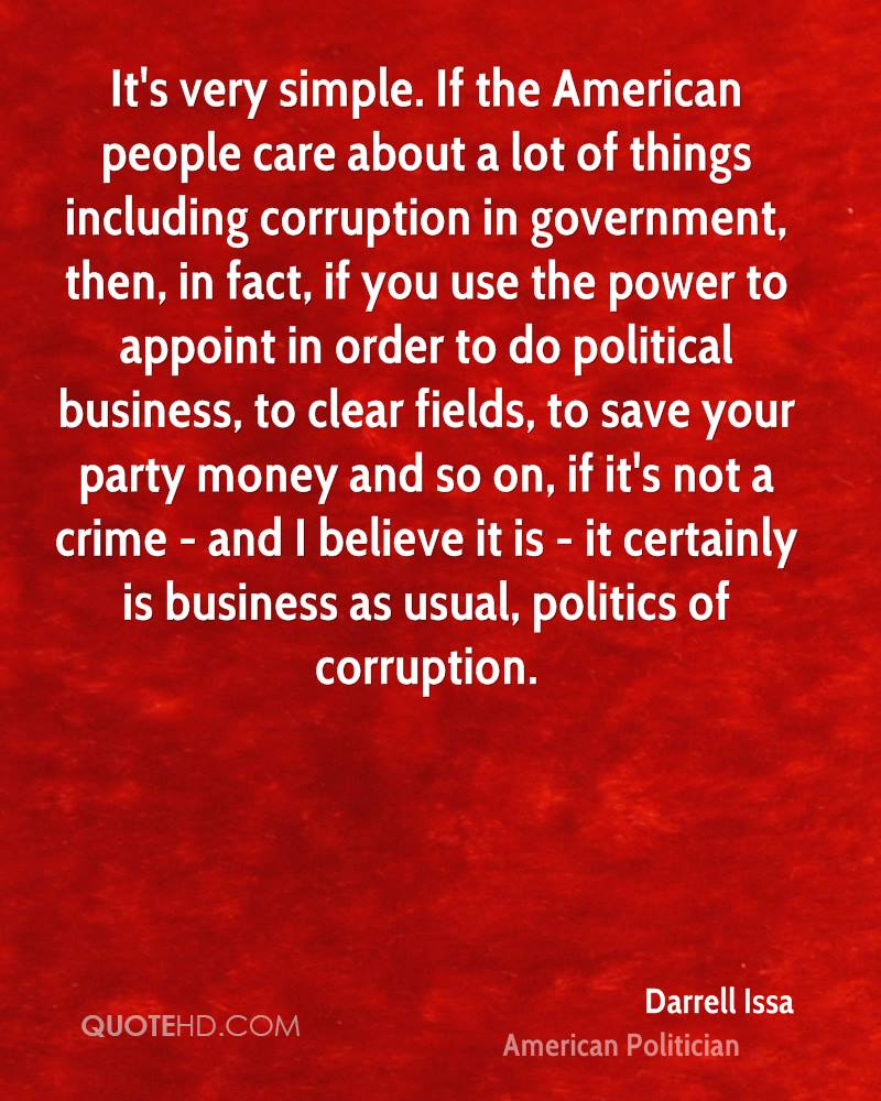 essay on corruption in government offices