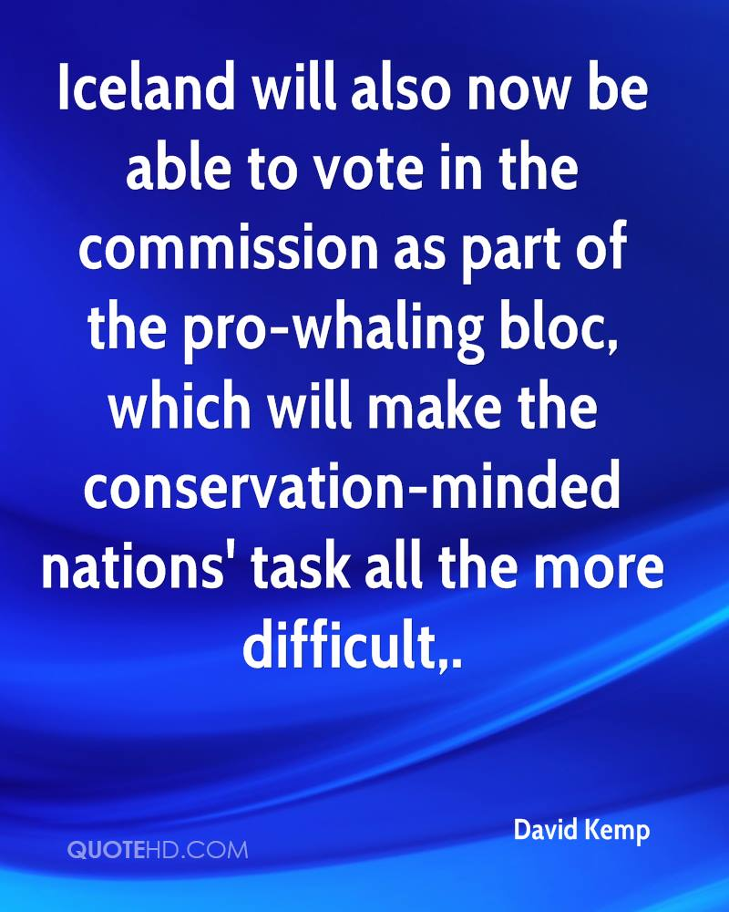 Iceland will also now be able to vote in the commission as part of the pro-whaling bloc, which will make the conservation-minded nations' task all the more difficult.