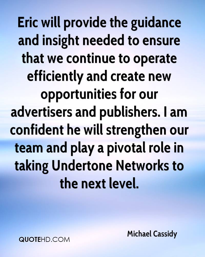 Eric will provide the guidance and insight needed to ensure that we continue to operate efficiently and create new opportunities for our advertisers and publishers. I am confident he will strengthen our team and play a pivotal role in taking Undertone Networks to the next level.
