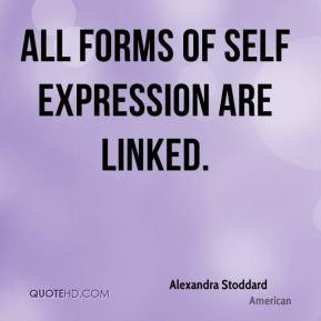 All forms of self expression are linked.