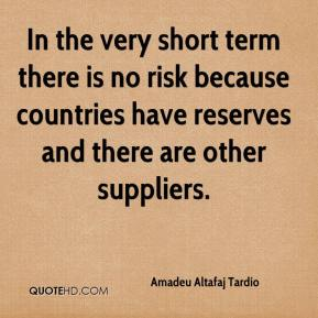 Amadeu Altafaj Tardio - In the very short term there is no risk because countries have reserves and there are other suppliers.