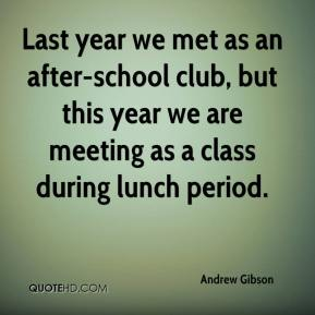 Last year we met as an after-school club, but this year we are meeting as a class during lunch period.