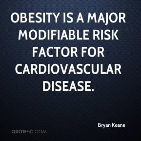 Obesity is a major modifiable risk factor for cardiovascular disease.